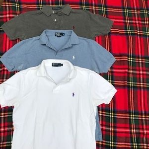 Bundle of three polo shirts